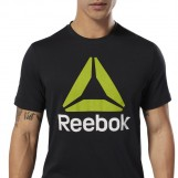 Футболка мужская QQR- Reebok Stacked BLACK|WHIT DU4691
