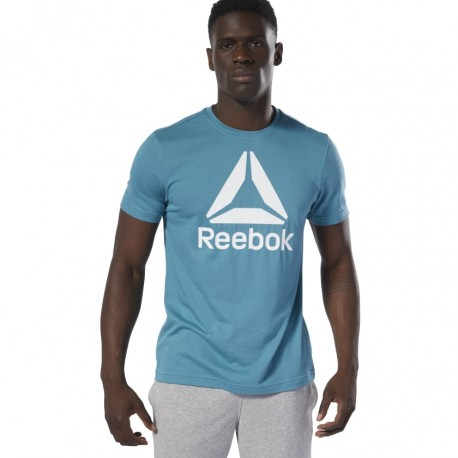 Футболка мужская Reebok QQR- Stacked MINMIS DU4690