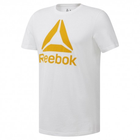 Футболка мужская Reebok QQR- Stacked WHITE|SESO DU4692
