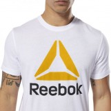 Футболка мужская Reebok QQR- Stacked WHITE|SESO DU4692
