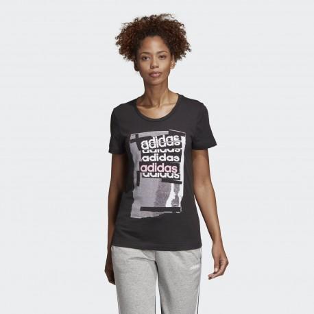 Футболка женская Adidas Linear Tee BLACK DV3012