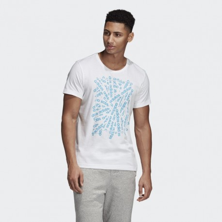 Футболка мужская Adidas E LIN SCATTER T WHITE DV3043
