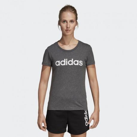 Футболка женская Adidas W E LIN SLIM T DGREYH TRU DX2546