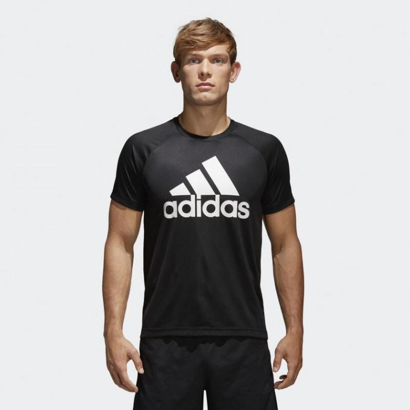 Футболка мужская Adidas D2M TEE LOGO BK0937