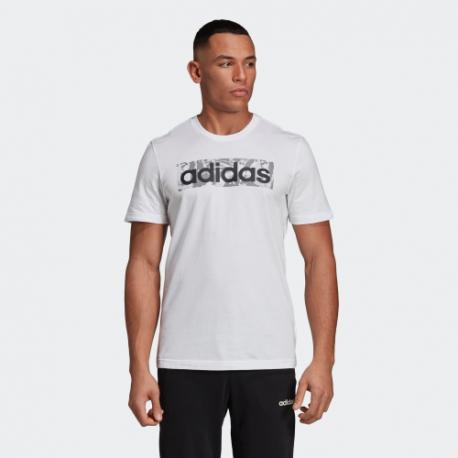 Футболка мужская Adidas E LIN AOP BOX T WHITE DX2129