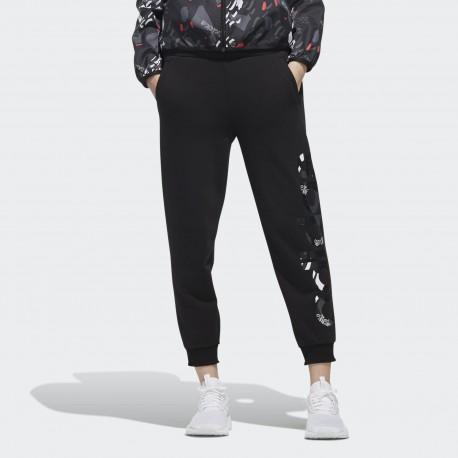 Брюки женские Adidas W FV TRACKPANT BLACK WHIT DW7766