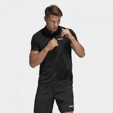 Поло мужское Adidas D2M CCool Polo BLACK DU1251