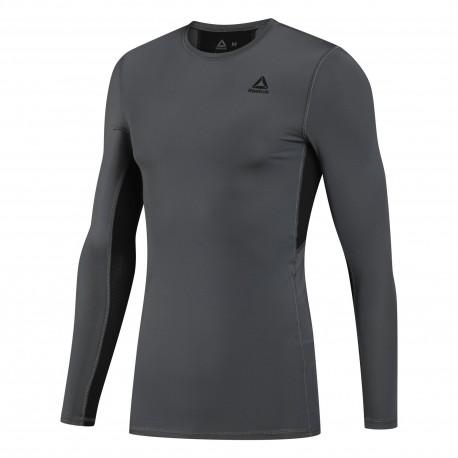 Компрессионная футболка с длинным рукавом мужская Reebok Wor Compr Lo Sleeve Solid DU2161