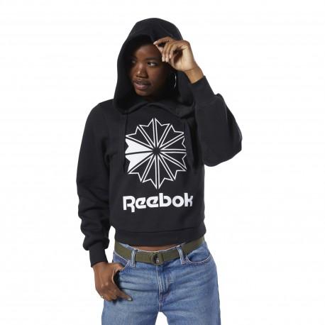 Толстовка женская Reebok Classics Big Logo Fleece Hoodie EB5135