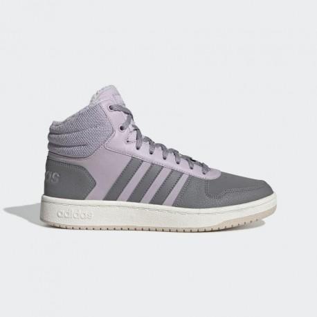 Кроссовки высокие женские Adidas Neo Hoops Mid 2.0 EE7878
