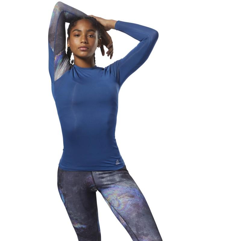 Компрессионная футболка с длинным рукавом женская Reebok ACTIVChill - Oil Slick D93887