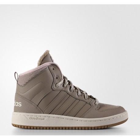 Кроссовки высокие утеплённые Adidas CF HOOPS MID WTR W AC7834