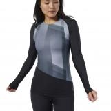 Компрессионная футболка с длинным рукавом женская Reebok  DY8158