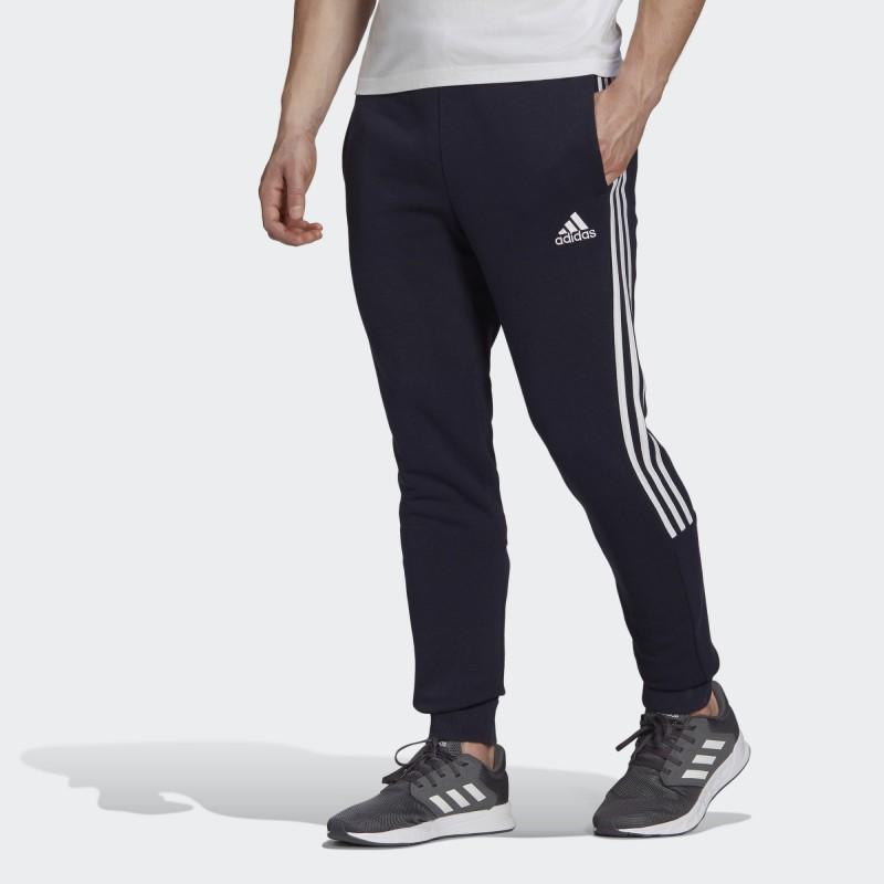 Брюки мужские Adidas Essentials Fleece Tapered Cuff 3-Stripes GK8977
