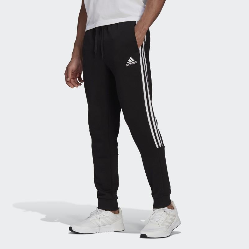 Брюки мужские Adidas Essentials Fleece Tapered Cuff 3-Stripes GK8967